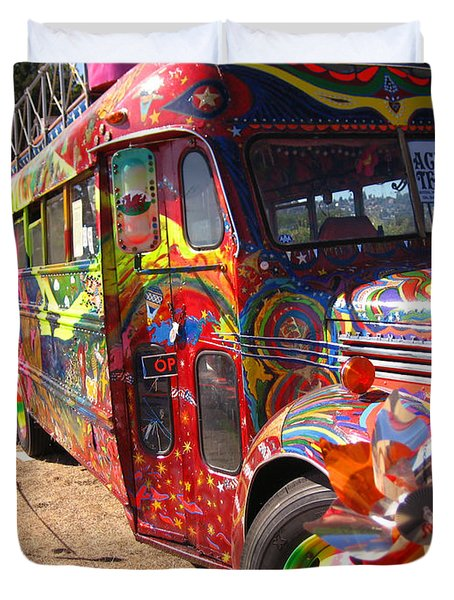 Kool Aid Acid Test Bus Duvet Cover
