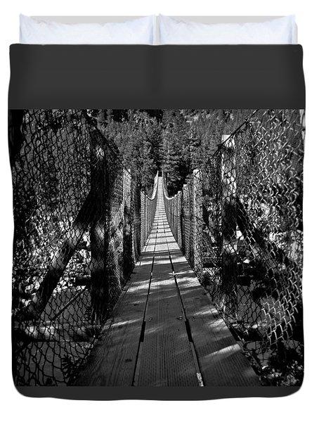 Kootenai Falls Bridge Duvet Cover