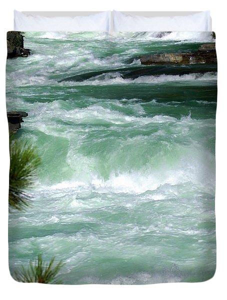 Kootenai River Duvet Cover by Marty Koch