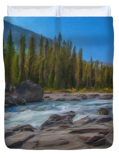 Kootenay River Duvet Cover