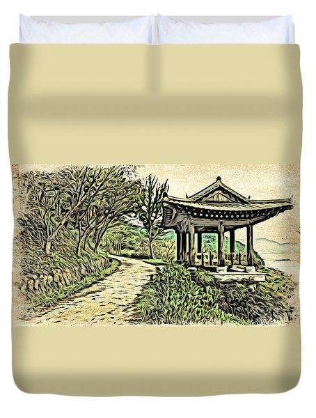 Korean Architecture Duvet Cover