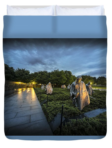 Korean War Memorial Duvet Cover