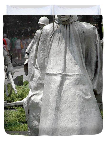 Korean War Memorial Duvet Cover by LeeAnn McLaneGoetz McLaneGoetzStudioLLCcom