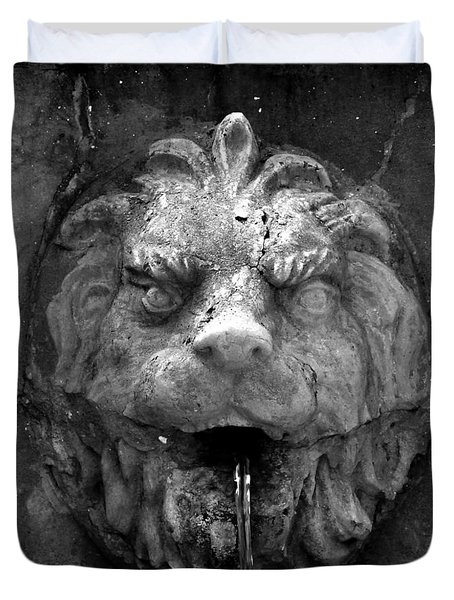 Koreshans Lion Duvet Cover by David Lee Thompson