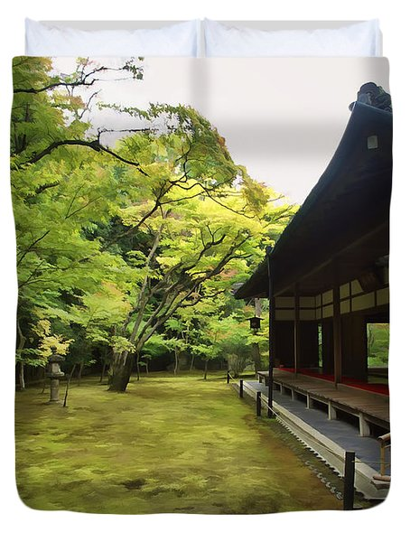Koto-in Zen Temple Maple And Moss Garden - Kyoto Japan Duvet Cover