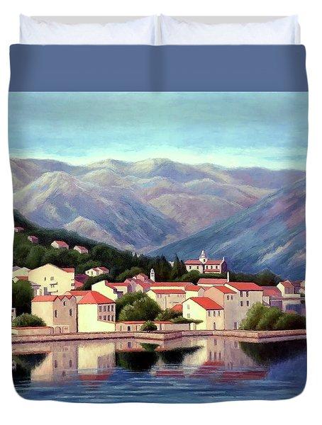 Kotor Montenegro Duvet Cover