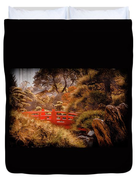 Kowloon - Red Bridge Duvet Cover
