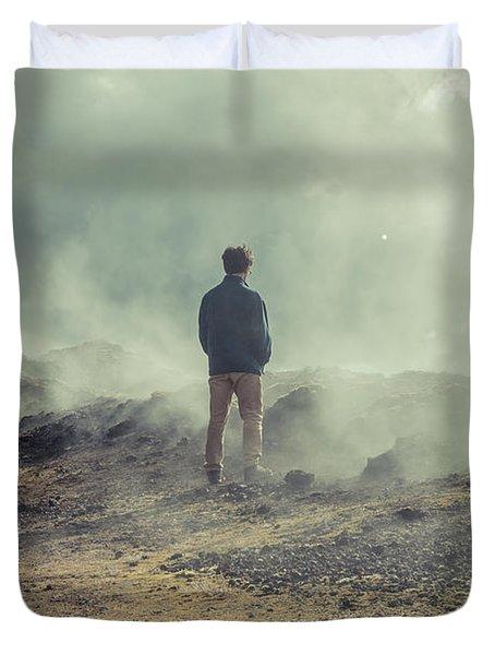 Krafla Lava Fields Duvet Cover