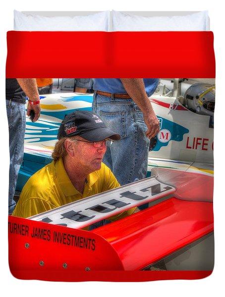 Kraig Johnson Driver Mechanic Raconteur Duvet Cover
