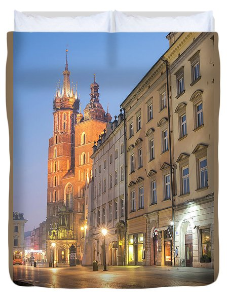 Duvet Cover featuring the photograph Krakow by Juli Scalzi