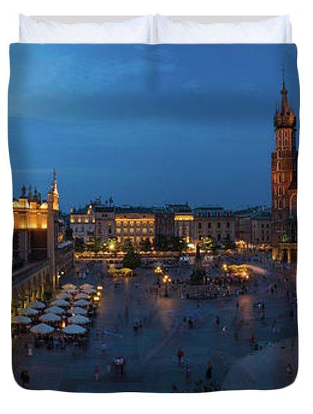 Krakow Poland Main Square Duvet Cover