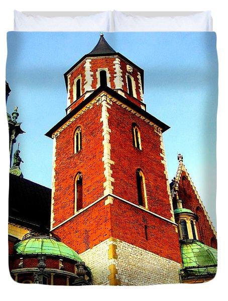 Duvet Cover featuring the photograph Krakow Poland by Michelle Dallocchio
