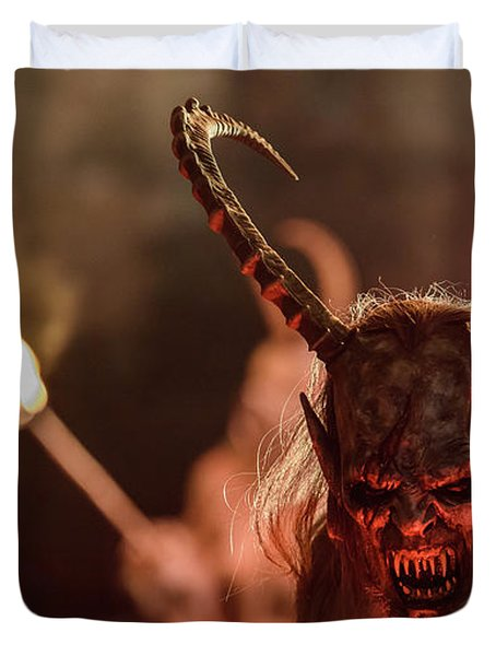Krampus. Christmas Devils Duvet Cover