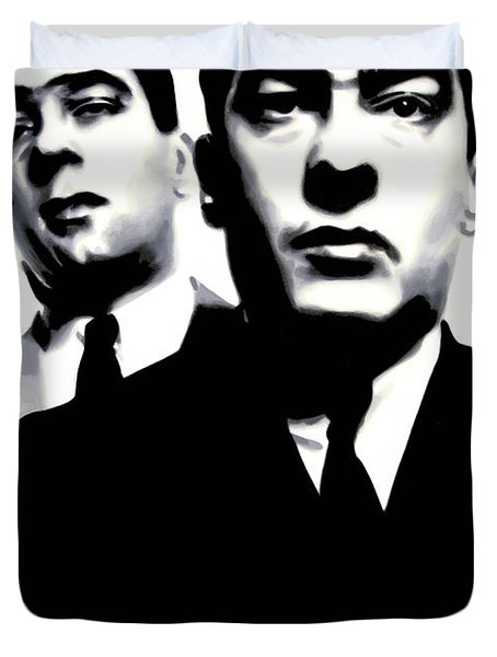 Kray Twins Duvet Cover by Luis Ludzska
