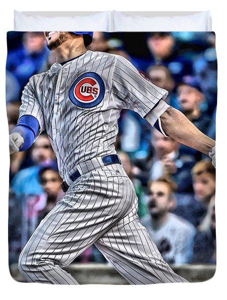 Kris Bryant Chicago Cubs Duvet Cover