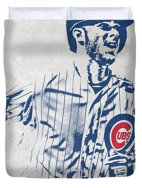 kris bryant CHICAGO CUBS PIXEL ART 2 Duvet Cover