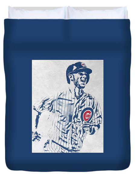 kris bryant CHICAGO CUBS PIXEL ART 2 Duvet Cover