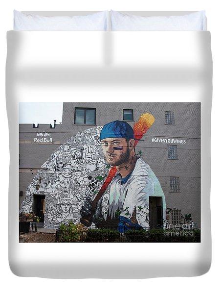 Kris Bryant Mural Duvet Cover