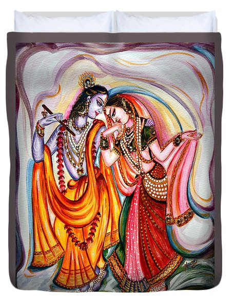 Krishna And Radha Duvet Cover