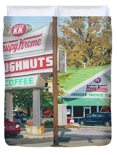 Krispy Kreme At Daytime Duvet Cover