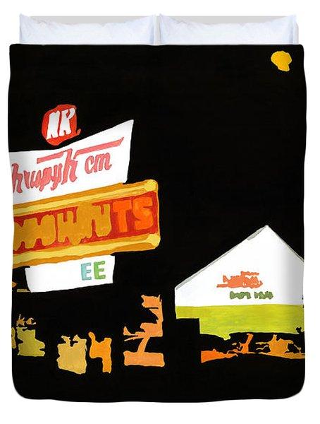 Krispy Kreme At Night Duvet Cover