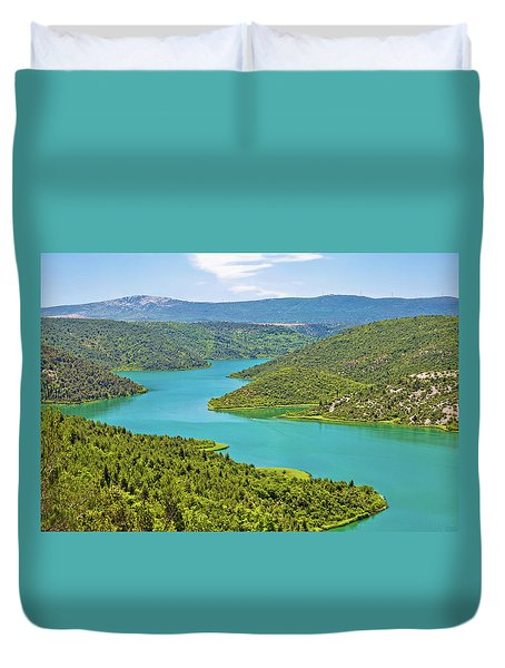 Krka River National Park View Duvet Cover by Brch Photography