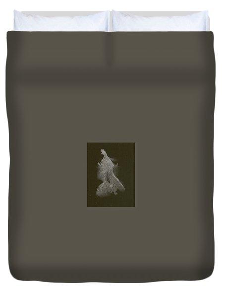 Kroki 2014 10 04_16 Figure Drawing White Chalk Duvet Cover