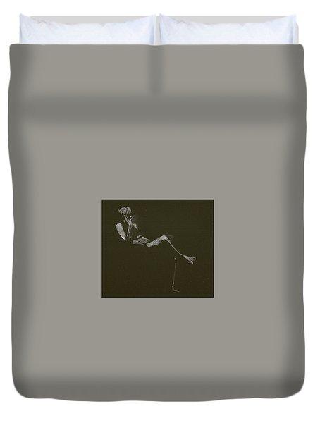 Kroki 2015 01 10_5 Figure Drawing White Chalk Duvet Cover