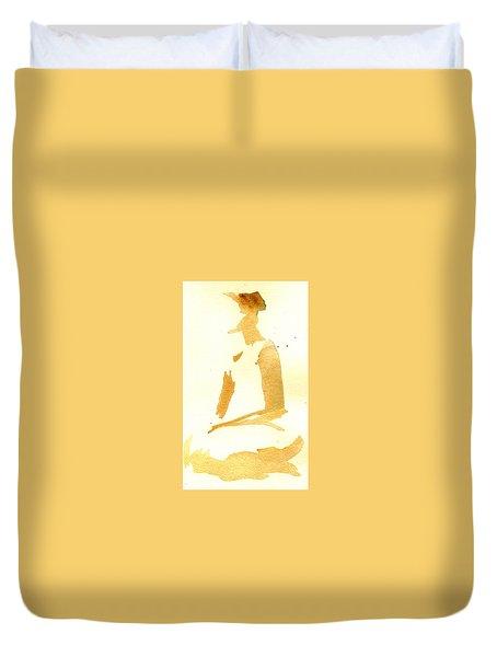 Kroki 2015 03 28_29 Maalarhelg 3 Akvarell Watercolor Figure Drawing Duvet Cover