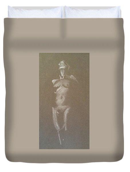 Kroki 2015 06 18_6 Figure Drawing White Chalk Duvet Cover
