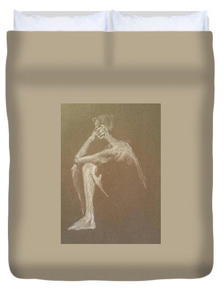 Kroki 2015 06 18_9 Figure Drawing White Chalk Duvet Cover