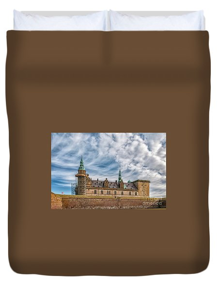 Duvet Cover featuring the photograph Kronborg Castle In Denmark by Antony McAulay