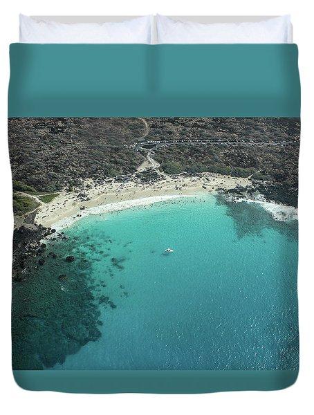 Kua Bay Aerial Duvet Cover