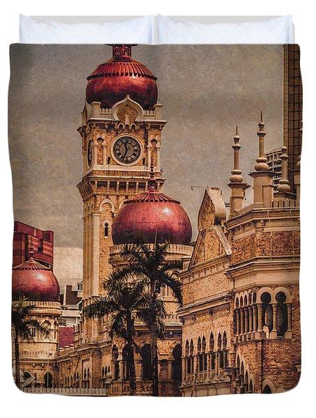 Kuala Lumpur, Malaysia - Red Onion Domes Duvet Cover