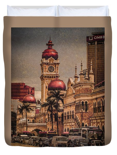 Kuala Lumpur, Malaysia - Red Onion Domes Duvet Cover