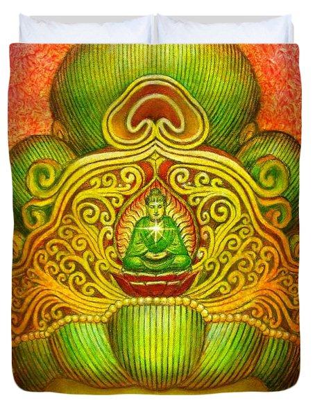 Kuan Yin's Buddha Crown Duvet Cover