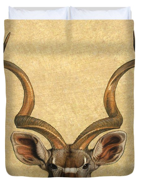 Duvet Cover featuring the painting Kudu by James W Johnson