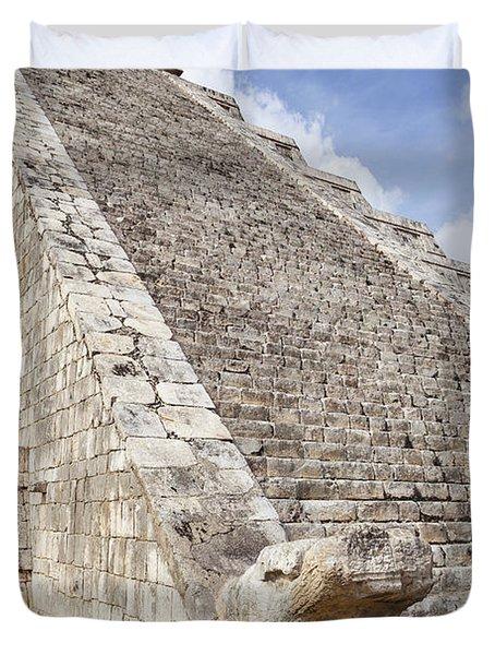 Kukulkan Pyramid At Chichen Itza Duvet Cover