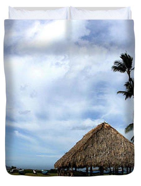 Kukulu Hale Kahului Maui Hawaii Panorama Duvet Cover by Sharon Mau