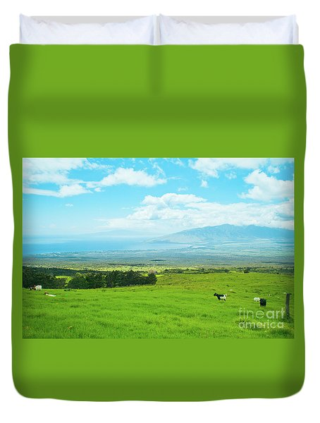 Kula Upcountry Maui Hawaii Duvet Cover by Sharon Mau