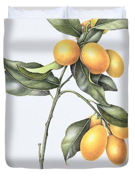 Kumquat Duvet Cover