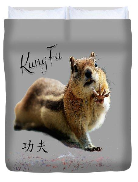 Kung Fu Chipmunk Duvet Cover