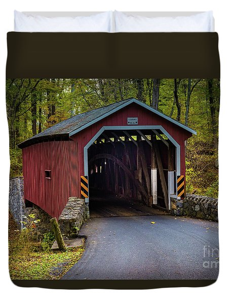 Kurtz Mill Covered Bridge Duvet Cover