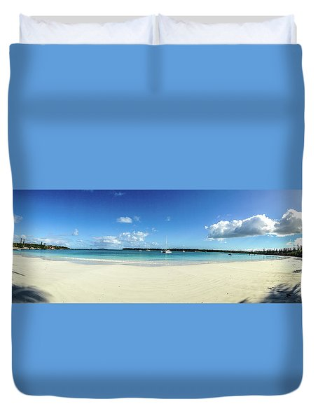 Kuto Bay Morning Pano Duvet Cover