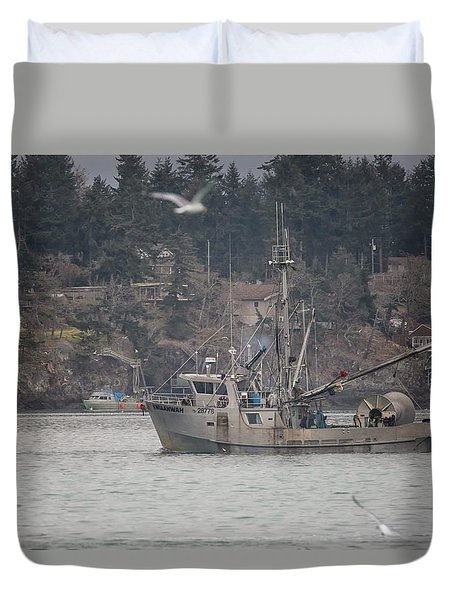 Kwiaahwah Duvet Cover by Randy Hall
