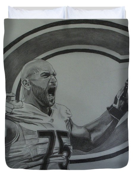Kyle Long Portrait Duvet Cover