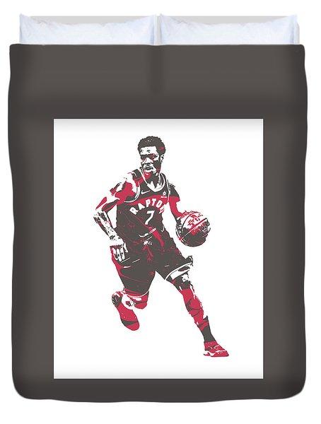 Kyle Lowry Toronto Raptors Pixel Art 60 Duvet Cover