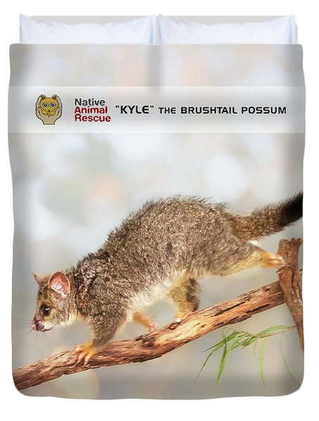 Kyle The Brushtail Possum, Native Animal Rescue Duvet Cover