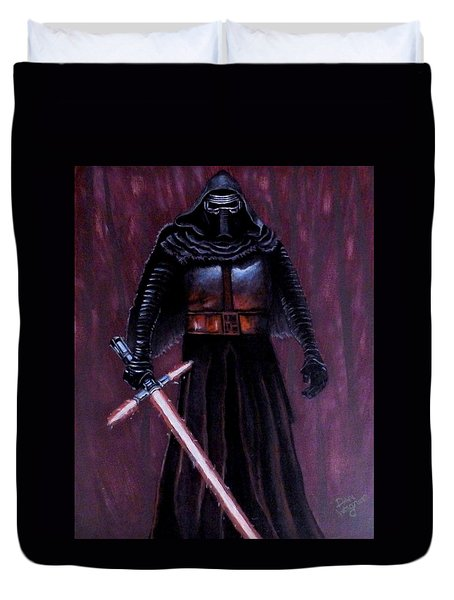 Kylo In Red Duvet Cover by Dan Wagner