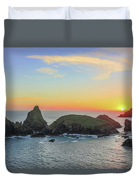 Kynance Cove At Sunset  Duvet Cover